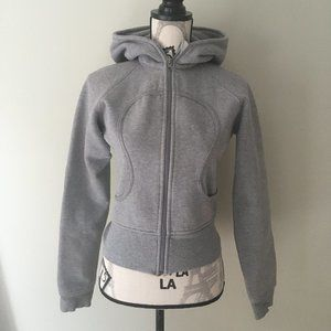 LuluLemon Cropped Gray Zip Bomber Hoodie - Size 4